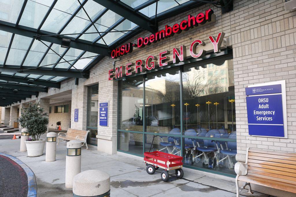 outside ER building