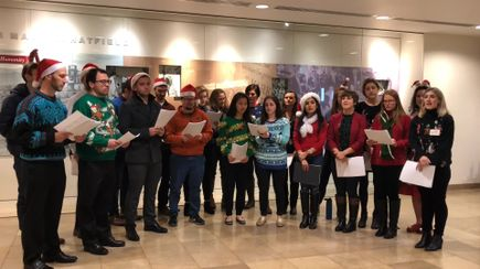VIDEO: Carol of the Bells OHSU students