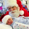 Santa visits NICU