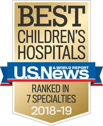 U.S. News & World Report Best Children's Hospital 2018-2019