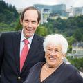 Gert Boyle with Dr. Druker
