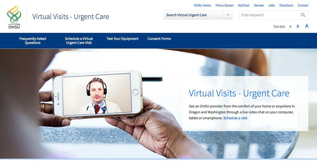 urgent care screen grab
