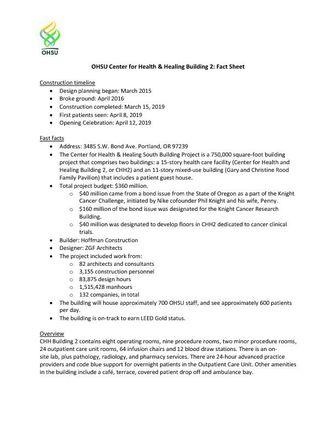 CHH2 Fact Sheet