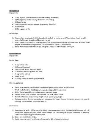 Recipes from Diane Stadler (PDF)