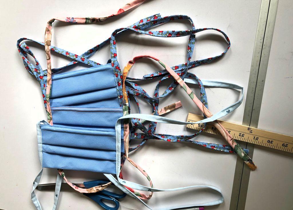 hand sewn flat fold masks