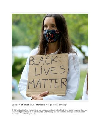 Support of Black Lives Matter is not political activity