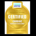 DNV-GL's gold 'certified Cardiac Center of Excellence' badge