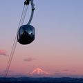 Portland Aerial Tram at sunrise