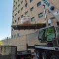 OHSU PET MRI hoisted by crane