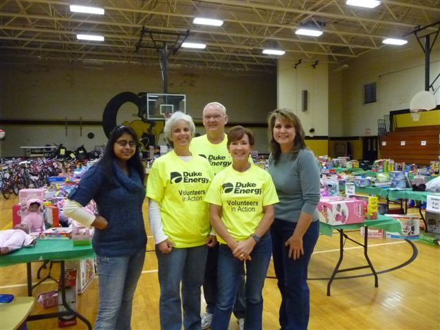 """Catawba Nuclear Station employees help spread holiday cheer by volunteering at the United Way's Toys for Happiness """"Toy Warehouse."""""""