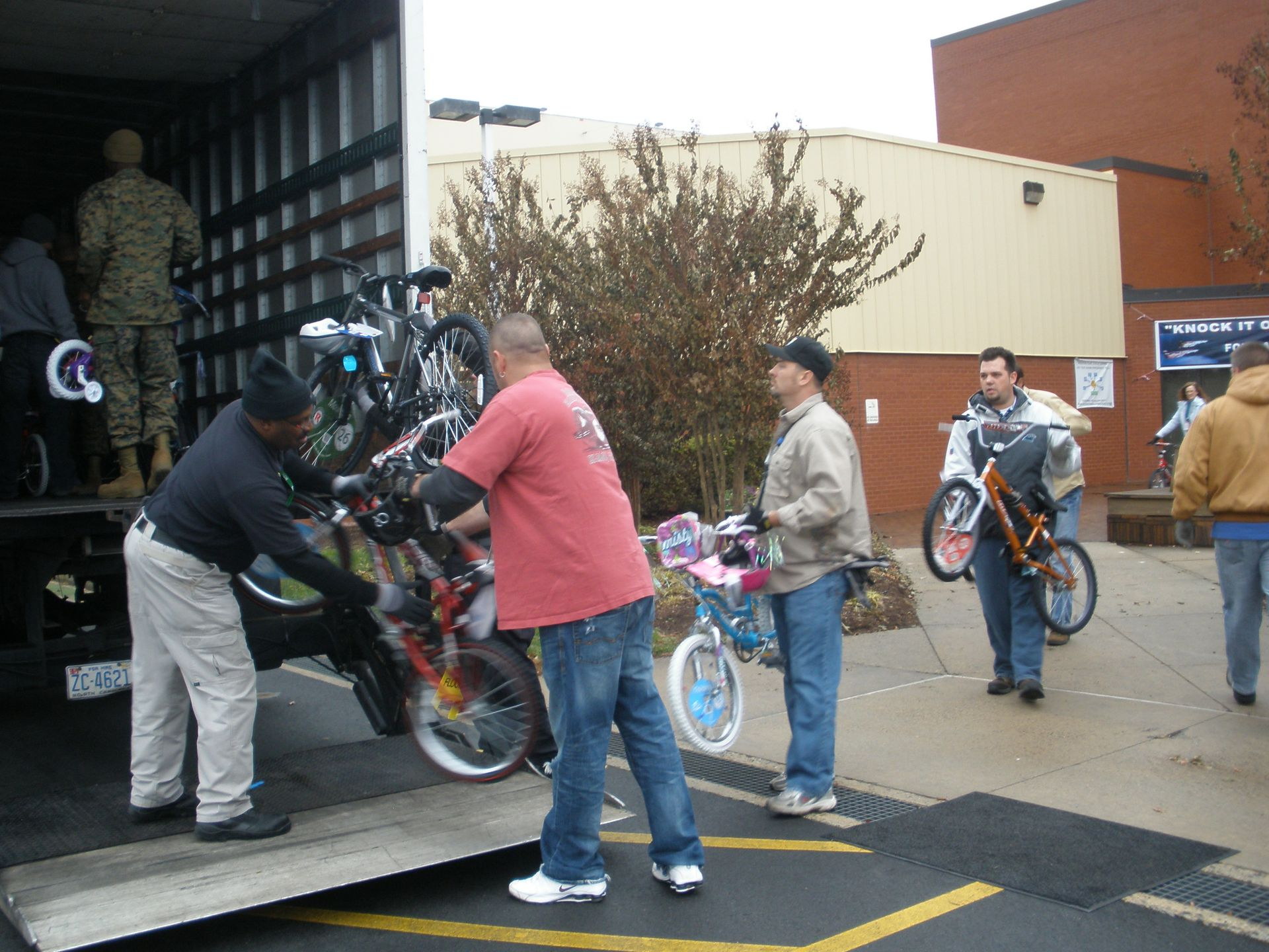 McGuire's bike collection for Toys for Tots has increased every year – this year the site collected 220 bikes.
