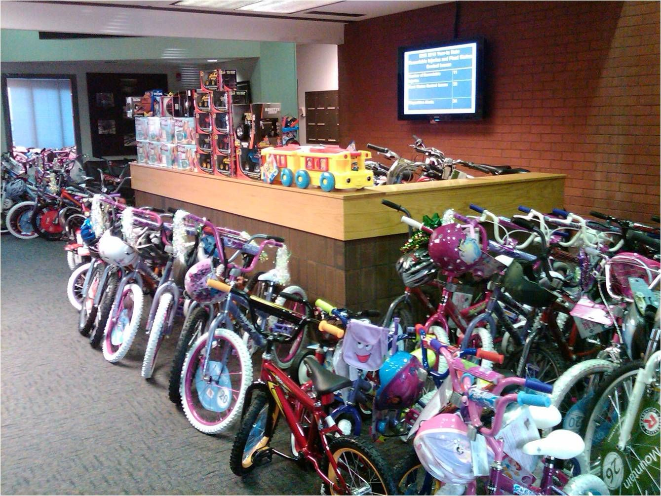 McGuire Nuclear Station employees collected more than a thousand toys and 220 bikes to local families in the Charlotte region.