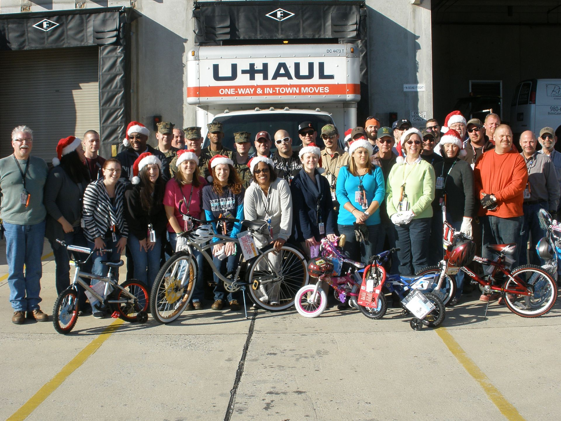 McGuire Nuclear Station employees participating in their annual Toys for Tots drive.