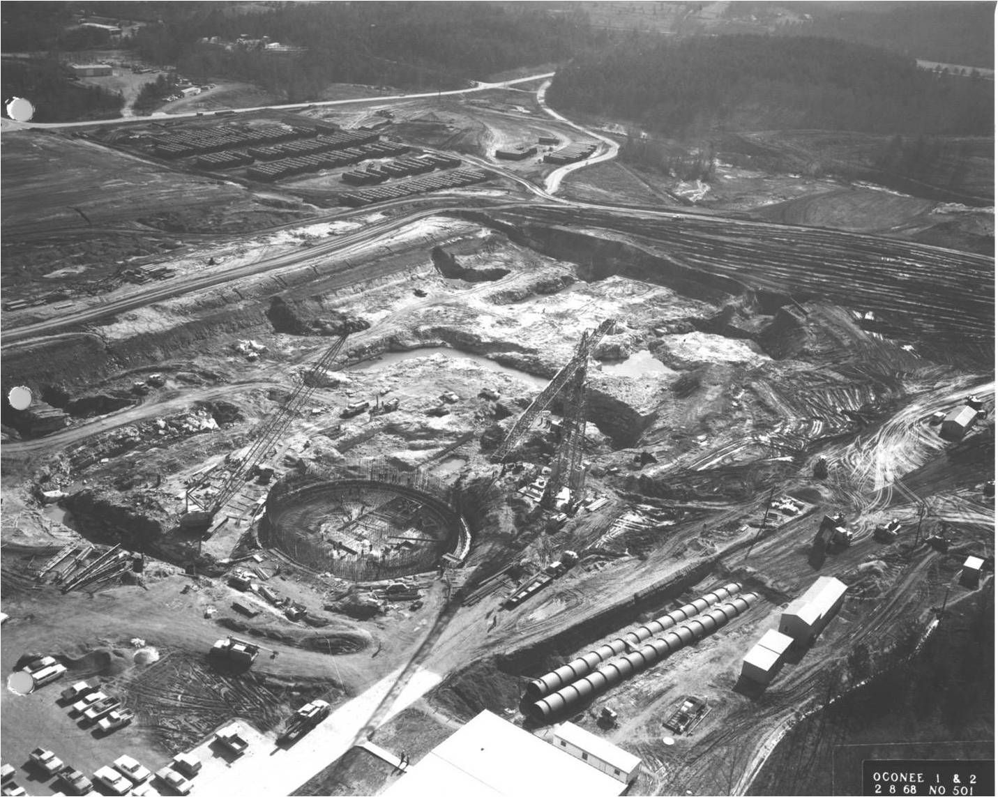 Construction of Keowee Toxaway for Unit 1