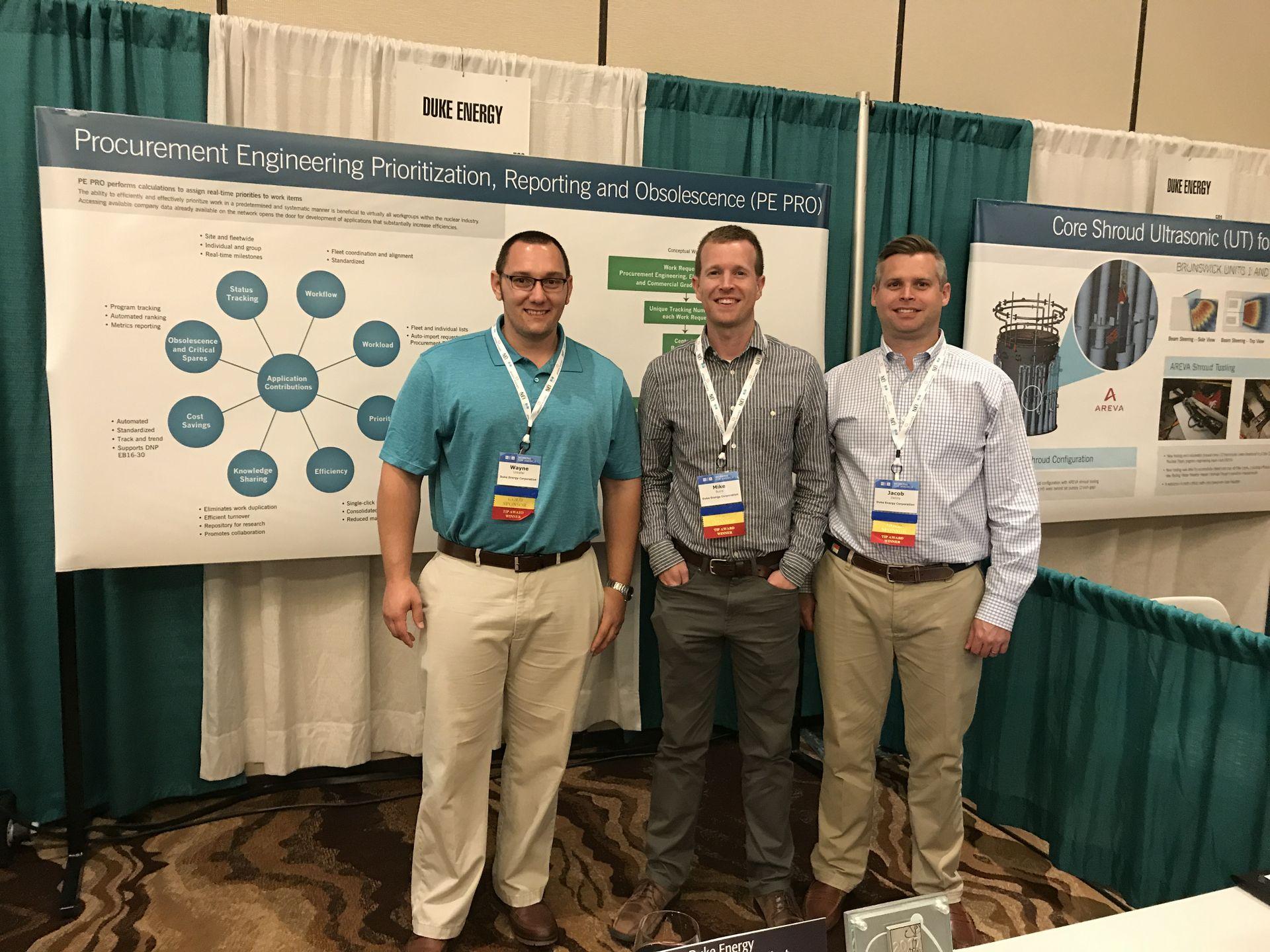 Duke Energy's award-winning Procurement Engineering team at NEA