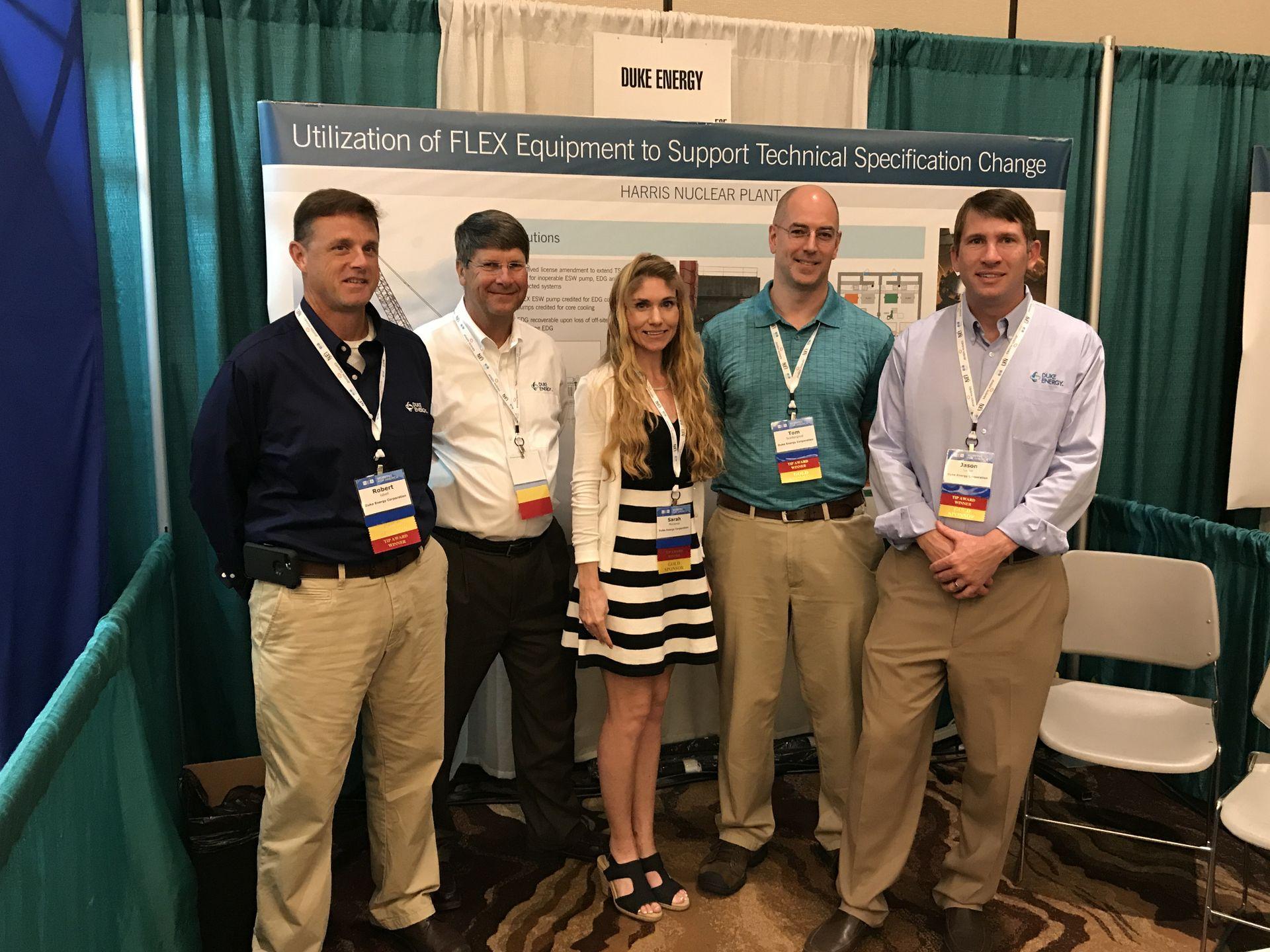 Harris Nuclear Plant teammates at their NEA TIP Award exhibit