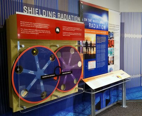 An exhibit at the EnergyExplorium, McGuire Nuclear Station's education center