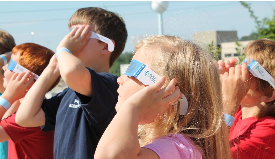 What is nuclear energy's role during the solar eclipse?