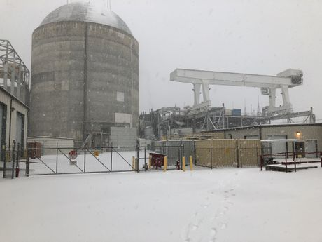 Robinson Nuclear Plant during the January snow