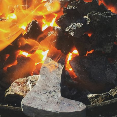An upclose look at the Clarys' forge