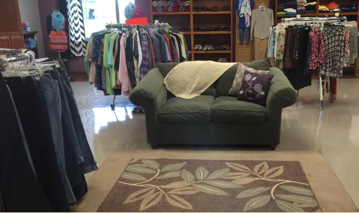 "One of Grace's Closet's in-school boutiques students can ""shop"" (photo courtesy of Grace's Closet)"
