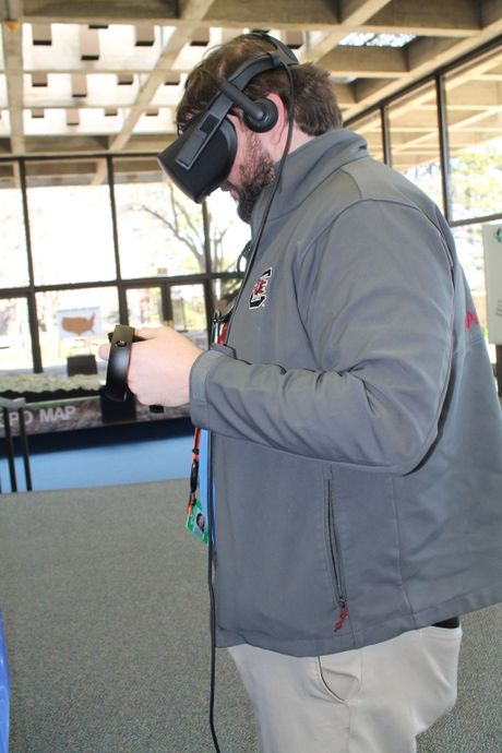 Brad Medlin demos the virtual reality tool