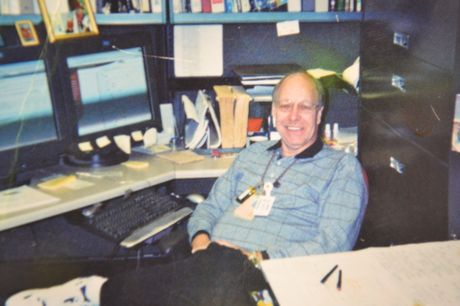 Old photo of Catawba Nuclear Station employee, Mike Wesson
