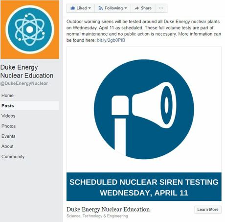 Duke Energy Nuclear Education Facebook page