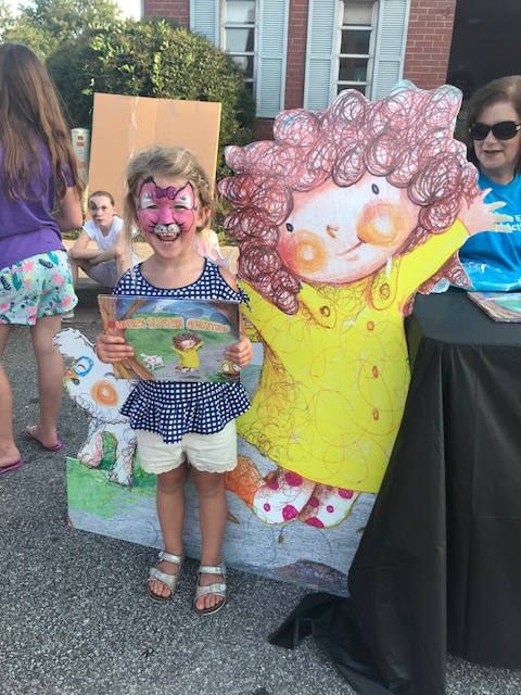 Reading Marie's Electric Adventure at Duke Energy Night in Walhalla, S.C.