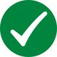 solid dark green checkmark