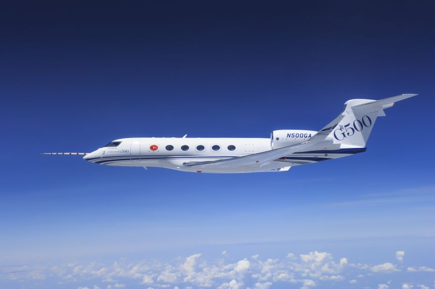 Gulfstream's first G500 flight-test aircraft