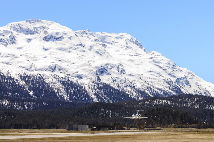 The Gulfstream G280 Operates Near Samedan-St. Moritz, Switzerland