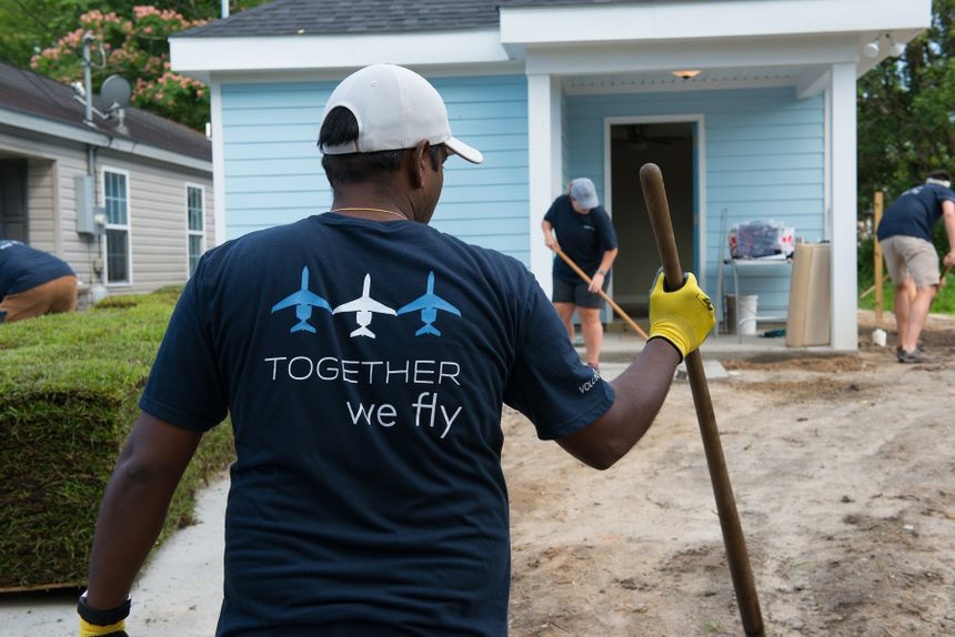 Gulfstream Aerospace employees volunteered more than 1,000 hours to construct the home