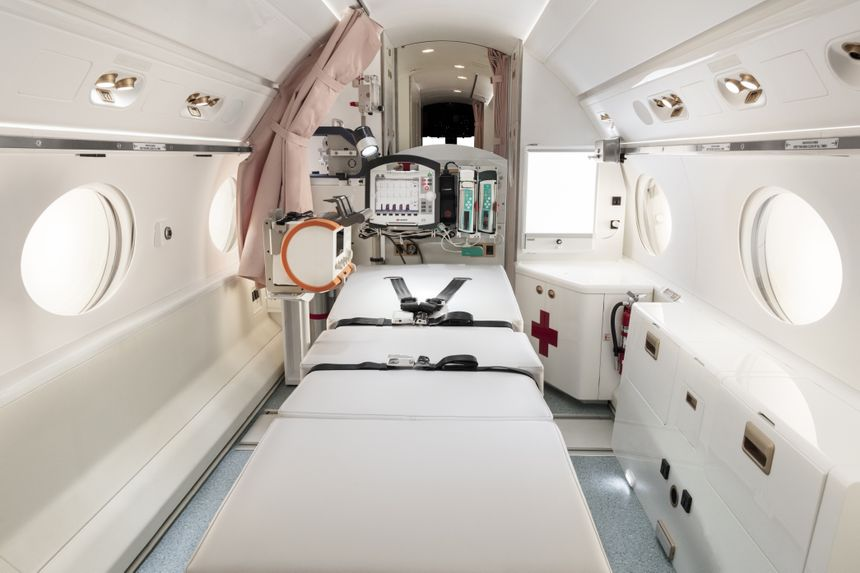 The Gulfstream G550 Configured For The Beijing Red Cross Emergency Medical Center