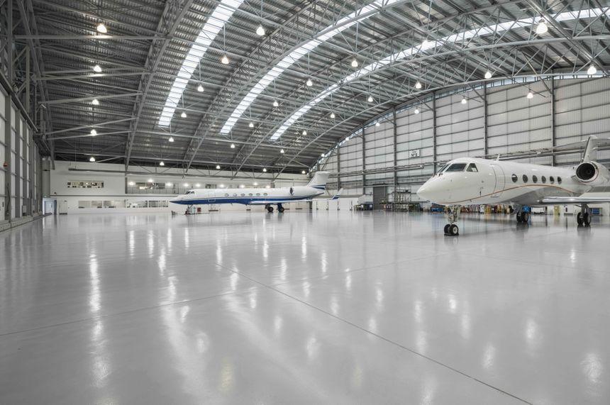 Gulfstream Operations Underway At Farnborough Airport