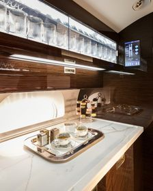 The Gulfstream G650ER Serenity and Style Galley
