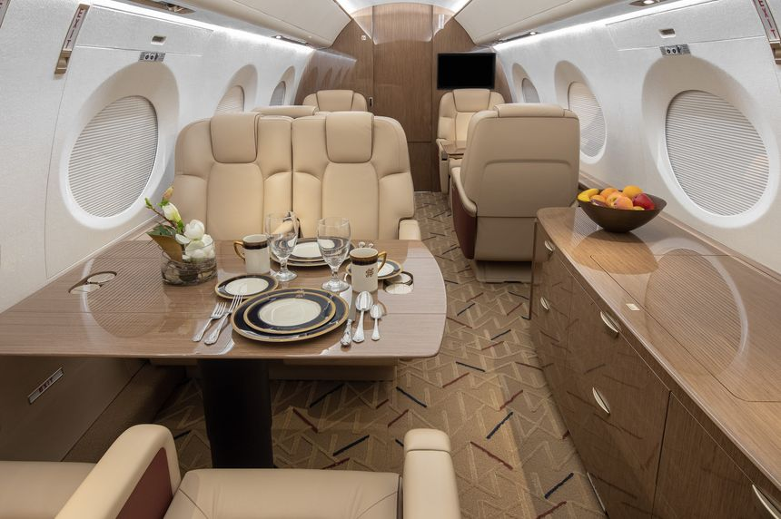 Interior of Gulfstream G600 flown by Solairus Aviation