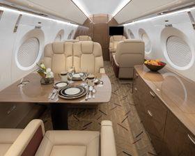 Interior of Gulfstream G600 flown by Solairus Aviation