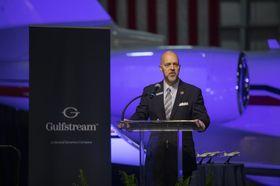 Gulfstream's Derek Zimmerman at Fort Worth MRO Annoucement