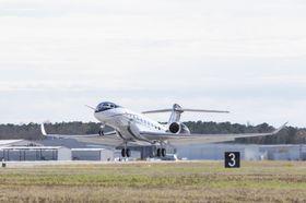 The Gulfstream G700 First Flight Takeoff