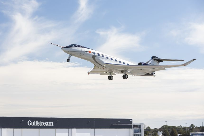 The Gulfstream G700 On Its First Flight