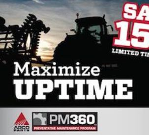 AGCO Parts Offers Customers 15 Percent Parts Discount on Preventative Maintenance