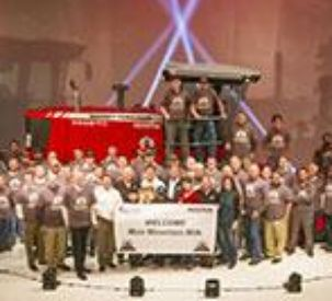 Historic 100,000th Windrower Rolled Off Production Line  in Hesston, Kansas