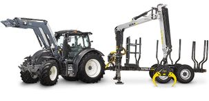 Valtra and Kesla are a perfect combination for forestry work