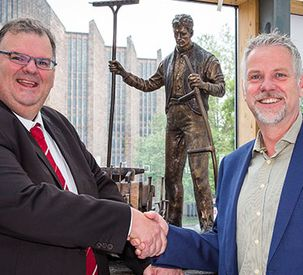 Massey Ferguson Sculpture comes to Coventry