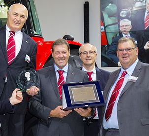 130 hp Massey Ferguson MF 5713 SL awarded Tractor of the Year 2016 in the Best Utility category at Agritechnica