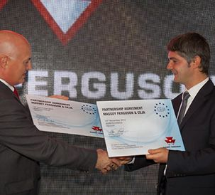 Massey Ferguson and CEJA  - European Council of Young Farmers - Sign Partnership Agreement at Agritechnica Fair