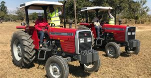 Ride and drive experience with MF machinery for young agripreneurs at AGCO Future Farm