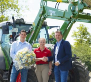 The Isabell Werth Training and Show Stable takes receipt of a Fendt 208 Vario