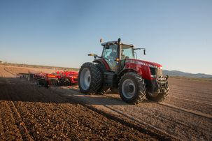 Massey Ferguson 8700 Tractor with Sunflower disk